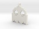 Pacman Pendant - Ghost in White Strong & Flexible