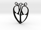 Storybook-Organic Heart Pendant in Matte Black Steel