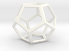 Dodecahedron in White Strong & Flexible Polished