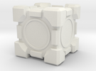 Companion Cube 100x100mm in White Strong & Flexible
