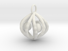 ballcagecharm in White Strong & Flexible