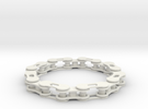 bike chain bracelet in White Strong & Flexible