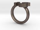 Confused Emoticon Ring :S in Stainless Steel