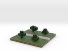 30x30 straight path (trees) (1mm series) in Full Color Sandstone