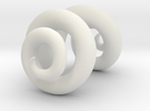 Ram horns half size in White Strong & Flexible