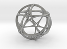 Pentagram Dodecahedron 1 (narrow, medium) in Metallic Plastic