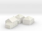1/350 Village Houses 4 in White Strong & Flexible