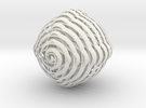 Spiral Sphere in White Strong & Flexible