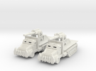 15mm Greenskin 'owitzer Wagons (x2) in White Strong & Flexible