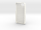 "iPhone 5 - ""Sweater"" Case in White Strong & Flexible Polished"