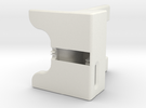 WaveGuide (a dock for iPhone 5 - 3 Degree Incline) in White Strong & Flexible