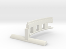 Bradford & Foster Brook Curved Rail in White Strong & Flexible