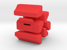 Switch Box - separate switches (6) in Red Strong & Flexible Polished