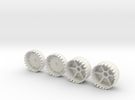 Echotransformer Hercules Upgrade V5  wheels only in White Strong & Flexible