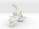 "5"" Chinese Dragon With Human Skull Pose1 in White Strong & Flexible"