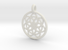 Kale pendant in White Strong & Flexible