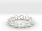 Chain Bracelet in White Strong & Flexible