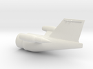 X305 Aircraft - Fuselage Rear in White Strong & Flexible
