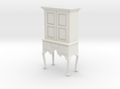 1:24 Queen Anne Highboy Cabinet in White Strong & Flexible