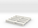 Pallet coaster 2 in White Strong & Flexible