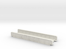 AT&SF 110mm Single Track in White Strong & Flexible