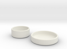 Petri Dish and Lid 35mm in White Strong & Flexible