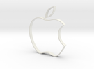 Apple Cookie Cutter in White Strong & Flexible