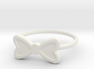 Midi Bow Ring, subtle and chic by titbit in White Strong & Flexible