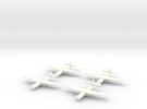 AS.51 Horsa Glider (United Kingdom) 1/600- (x4) in White Strong & Flexible Polished