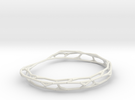 Fractal Wire Bracelet in White Strong & Flexible