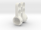 Lego Large Female Socket Connector in White Strong & Flexible