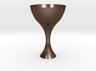 Goblet in Polished Bronze Steel