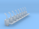 HO-Scale Gas Pump Nozzle (8-Pack) in Frosted Ultra Detail