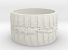 Bio Mech Ring #1, Ring Size 8.5 in White Strong & Flexible