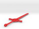 Finn's Demon Blood Sword Keychain in Red Strong & Flexible Polished
