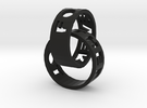 Connected Rings Forever Together in Black Strong & Flexible