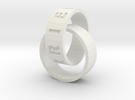 Connected Rings Just Married in White Strong & Flexible