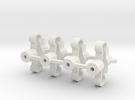 Spring-mounts 13mm in White Strong & Flexible