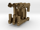 Mp40 gun for lego and bricks in Polished Bronze