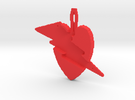 budget heart lightening pendant in Red Strong & Flexible Polished
