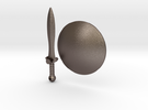 Real metal Shield & Sword for V3 Spartan in Stainless Steel