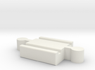 Brio M-M Connector 40mm With Marking in White Strong & Flexible