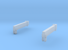 O-Scale Block & Tackle Beams in Frosted Ultra Detail