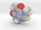 Caffeine molecule (x20,000,000, 1A = 2mm) in Full Color Sandstone