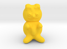 Teddy bear in Yellow Strong & Flexible Polished