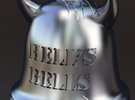 Hell's Bells Pendant in White Strong & Flexible