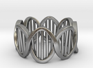 DNA Ring (Size 4) in Raw Silver