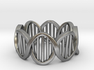 DNA Ring (Size 7) in Raw Silver