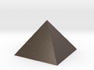 Pyramid Square Johnson 40mm Hollow  in Stainless Steel