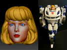 Carly Homage Exosuit Head For TF FOC JAZZ in Full Color Sandstone